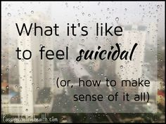 Does suicide make absolutely no sense to you? This article sheds some light on the nature of suicidal thinking.