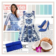 """Blue Dress"" by nella-fashion ❤ liked on Polyvore"