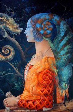 art art surrealista Paintings by Martin La Spina Surrealism Painting, Painting Art, Pop Surrealism, Art Paintings, Art And Illustration, Art Visionnaire, Street Art, Arte Indie, Art Sculpture