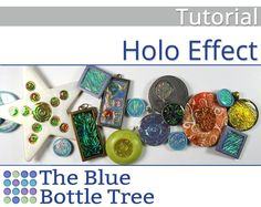Create a shimmery holographic effect that resembles dichroic glass with this polymer clay tutorial. You will learn how to create glowing, dimensional, color shifting images in your polymer clay creations. Make jewelry that shines, pendants that stand out, focal beads that glow. When the light catches the Holo Effect piece, it very much looks like its lit from within.  The Holo Effect really is a stand-out. When I wear jewelry that Ive made with this technique, people always comment on it…