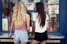 Every blond needs a brunette