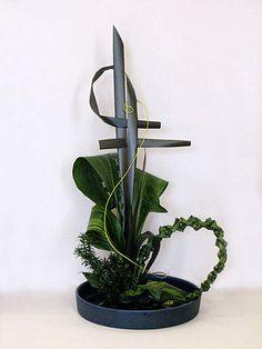 Artistic arrangement without flowers