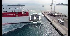 Corfu Ferry Docking