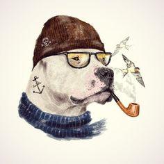 Mastiff Art Print by dogooder - X-Small Dog Portraits, Whimsical Art, Dog Art, Pet Birds, Creative Art, Watercolor Paintings, Funny Animals, Sketches, Art Prints
