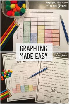 Ideas and freebies for teaching graphs in 3rd grade (bar graph, pictograph, and line plots)