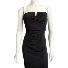 Gorgeous LBD Beautiful little black dress by Nicole Miller.  Gorgeous rushing is going to make you look fantastic in this.  Sleeveless, can be strapless and oh-so-sexy.  Longer just above the knee skirt gives this dress a nice balance. Perfect for cocktails, parties, galas, romantic dinners, gallery openings, receptions and lounging around looking like a movie star because you just feel glam wearing this dress. Red lipstick and killer heels not included. Nicole Miller Dresses Strapless