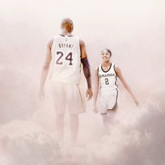 Artists around the world immortalize Kobe and Gianna Bryant R. Kobe and Gianna Kobe and Gianna among the clouds in a graphic where they're depicted as fellow players sharing a court. Kobe Bryant Family, Lakers Kobe Bryant, Nba Players, Basketball Players, Kobe Brynt, Dear Basketball, Kentucky Basketball, Kentucky Wildcats, College Basketball