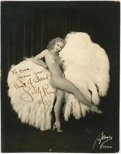 1933 Sally Rand Burlesque Poster of the famous Fan Dancer