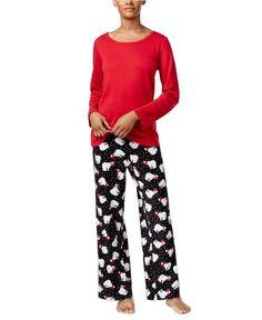 Charter Club knit cotton garden bouquet two piece pajama set XXL 3XL