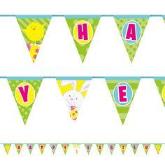 Happy Easter Påske Hare Flag Banner 426 cm - Single