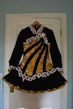 Gavin black and gold solo dress