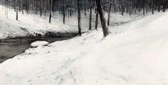 "MEDALLA DE HONOR. Francisco Solano Jimenez Castro  ""Winter Landscape VII"".Acuarela. 195x150cm. Watercolor Landscape, Landscape Paintings, Winter Szenen, Crayon Drawings, Winter Painting, Winter Landscape, Recherche Google, Drawing Sketches, Painting & Drawing"