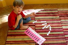make self-checking magnet strips games -number words, color words-  also--possibly make principal parts of verbs chart-?
