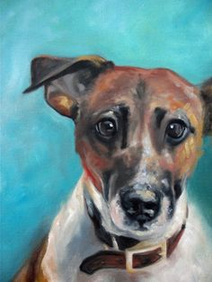 Jack Russell Terrier Dog Art Painting Print