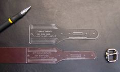 Leather Craft Templates & gauges - Black River Laser...luggage tag in this photo but many others on the site