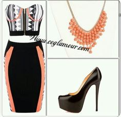 I really like pairing these too colors together orange n blk