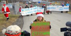Santa Claus + 7 Elves Arrested Protesting Fracking Infrastructure