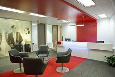 Adecco Group - in Montréal, Candada #midsizeoffice #commercialspaces #commercialinteriors #design #flooring