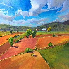 View from the Train Ride by Sri Rao Acrylic ~ 36 x 36