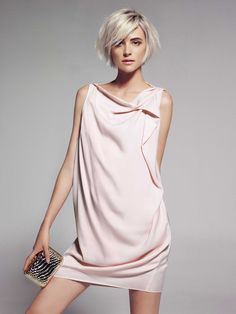 Timeless Style / Cascading dress in pink by Mango Hair Day, New Hair, Short Hair Cuts, Short Hair Styles, Short Pixie, Glamorous Chic Life, Vestidos Color Rosa, Corte Y Color, Look Girl