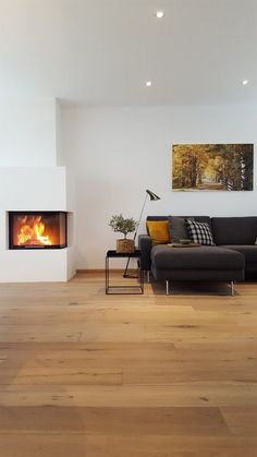 After a long time I lit the fireplace again. I could spend hours … – Fireplace Home Fireplace, Living Room With Fireplace, Fireplace Design, Home Living Room, Living Room Designs, Room Inspiration, Home Interior Design, Exterior Design, House Design
