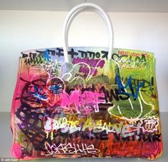 Graffiti Hermes Birkin Bag