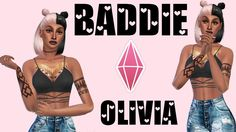 ❤️The Sims 4 CAS | Tatted Baddie❤️  She a bad sim i'll tell you that. And omg look at them tats <3