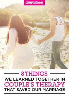 We needed someone's help to learn how to live together.