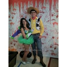Homemade Couple Costume Sexy Buzz Lightyear and Woody ❤ liked on Polyvore