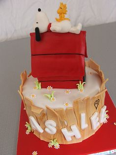 Snoopy & Woodstock~cake 6