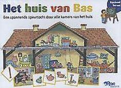 HET HUIS VAN BAS : EEN SPANNENDE SPEURTOCHT DOOR ALLE KAMERS VAN HET HUIS - Verhalen vertellen, zinnen bouwen en de woordenschat vergroten: het Huis van Bas is een spannend bordspel dat de taalontwikkeling stimuleert.