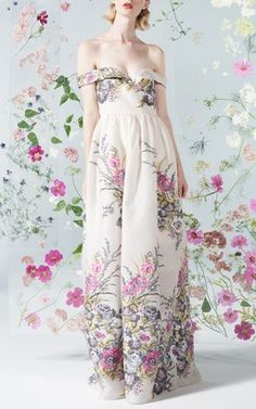 Floral Gown by Malene Oddershede Bach