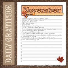 {NEW USE!} November Gratitude Journal