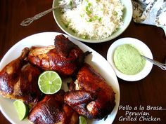 Home Cooking In Montana: Pollo a la Brasa and Aji Verde Sauce... Peruvian Grilled Chicken with Green Chile Sauce