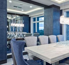 Check out one of our many spectacular custom-built rooms. As you may know, blue represents a calm and serene atmosphere, reminding us of the sky and ocean waves. #CustomBuiltHomes