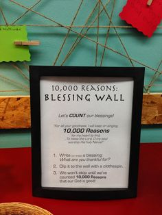 Worship Response Stations: Wall of Blessing