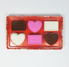 Chocolate rubber erasers | love heart rubber erasers - $4.99 USD