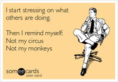 The best not my circus Memes and Ecards. See our huge collection of not my circus Memes and Quotes, and share them with your friends and family. Office Humor, Work Humor, Work Memes, Work Funnies, Me Quotes, Funny Quotes, Funny Phrases, Crazy Quotes, Work Quotes