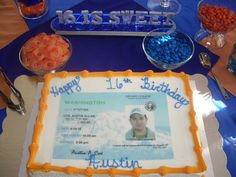 """Photo 3 of 12: Driver's License / Birthday """"16 is Sweet - 16th Birthday for a boy""""   Catch My Party"""