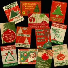 Retro Christmas Decorations, Vintage Christmas Lights, Vintage Ornaments, Vintage Holiday, Christmas Tree Ornaments, 1950s Christmas, Victorian Christmas, Vintage Santas, Vintage Christmas
