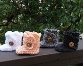Crochet Baby Booties. Shell stitch. Baby Boots. Baby Gift