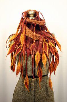 luscious felt scarf by Yvonne Stefani