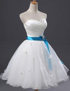 Ball Gown Homecoming Dresses,Sweetheart Short White Organza Homecoming…