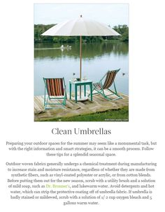 How To Clean Your Patio Umbrella