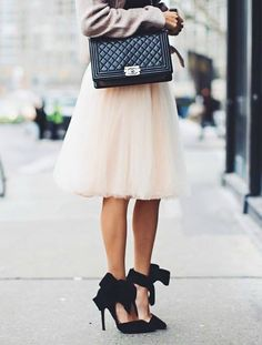 have you been looking for the perfect tulle skirt check out christina from hellofashionblog