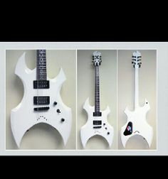Custom White ESP guitar