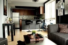 This is what I meant by bar but ur kitchen is another room this doesn't really work