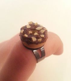 Chocolate Donut Ring by DreamlandMiniatures on Etsy, $12.00