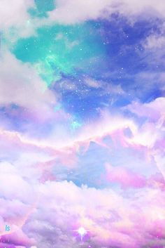 Iphone Wallpaper - art cute kawaii sky design space galaxy pink clouds pastel digital art digital c. Fond Pastel Goth, Ciel Pastel, Pastel Sky, Pastel Galaxy, Pastel Clouds, Colorful Clouds, Blue Clouds, Galaxy Art, Pretty Pastel