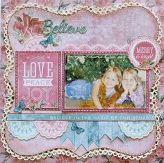 A Layout by Kelly-ann Oosterbeek made using the Silver Bells Collection from Kaisercraft. www.amothersart.com.au
